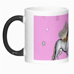 Unicorn And Fairy In A Grass Field And Sparkles Morph Mug