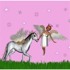 Unicorn And Fairy In A Grass Field And Sparkles Canvas 12  x 12  (Unframed)