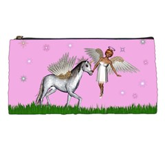 Unicorn And Fairy In A Grass Field And Sparkles Pencil Case