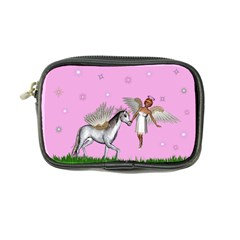 Unicorn And Fairy In A Grass Field And Sparkles Coin Purse