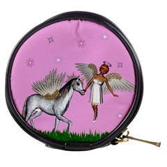 Unicorn And Fairy In A Grass Field And Sparkles Mini Makeup Case