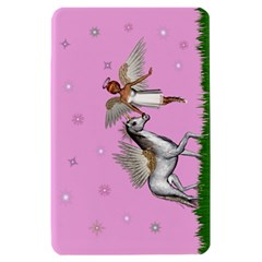 Unicorn And Fairy In A Grass Field And Sparkles Kindle Fire Hardshell Case