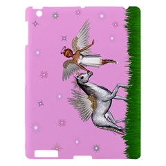 Unicorn And Fairy In A Grass Field And Sparkles Apple iPad 3/4 Hardshell Case
