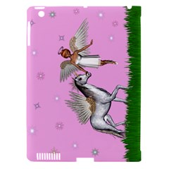 Unicorn And Fairy In A Grass Field And Sparkles Apple iPad 3/4 Hardshell Case (Compatible with Smart Cover)