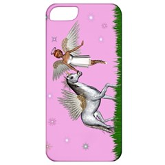 Unicorn And Fairy In A Grass Field And Sparkles Apple Iphone 5 Classic Hardshell Case