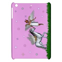 Unicorn And Fairy In A Grass Field And Sparkles Apple iPad Mini Hardshell Case