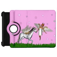 Unicorn And Fairy In A Grass Field And Sparkles Kindle Fire HD 7  (1st Gen) Flip 360 Case