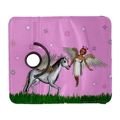 Unicorn And Fairy In A Grass Field And Sparkles Samsung Galaxy S  Iii Flip 360 Case