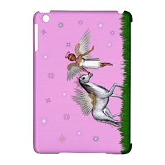 Unicorn And Fairy In A Grass Field And Sparkles Apple Ipad Mini Hardshell Case (compatible With Smart Cover)