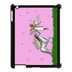 Unicorn And Fairy In A Grass Field And Sparkles Apple Ipad 3/4 Case (black)