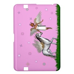 Unicorn And Fairy In A Grass Field And Sparkles Kindle Fire Hd 8 9  Hardshell Case