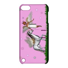 Unicorn And Fairy In A Grass Field And Sparkles Apple iPod Touch 5 Hardshell Case with Stand