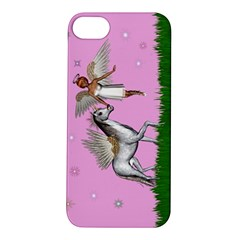 With A Unicorn And Fairy In A Grass Field And Sparkles Apple Iphone 5s Hardshell Case