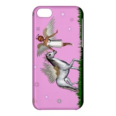 Unicorn And Fairy In A Grass Field And Sparkles Apple iPhone 5C Hardshell Case