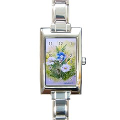 Meadow Flowers Rectangular Italian Charm Watch