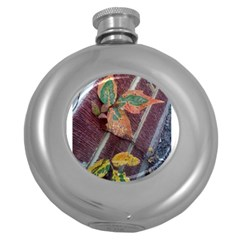 A Leaf In Stages Hip Flask (round)