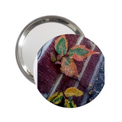 A Leaf In Stages Handbag Mirror (2.25 )