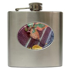 A Leaf In Stages Hip Flask