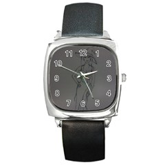 Witchy Square Leather Watch