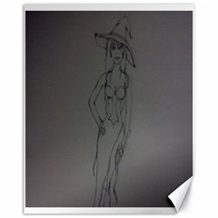 Witchy Canvas 11  X 14  (unframed)