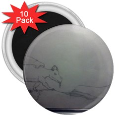 To Battle 3  Button Magnet (10 pack)