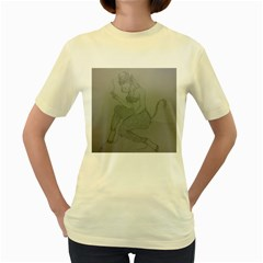 Smoke Break Satyr Women s T-shirt (Yellow)