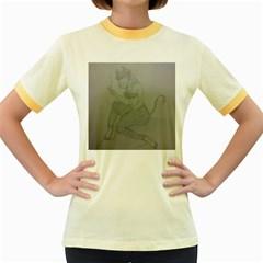 Smoke Break Satyr Women s Ringer T-shirt (Colored)
