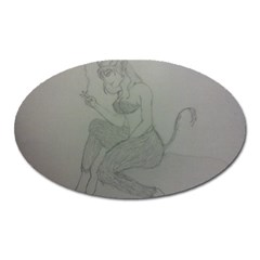 Smoke Break Satyr Magnet (oval)