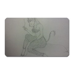 Smoke Break Satyr Magnet (Rectangular)