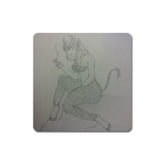 Smoke Break Satyr Magnet (Square)