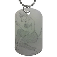 Smoke Break Satyr Dog Tag (Two-sided)