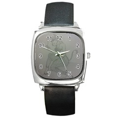 Smoke Break Satyr Square Leather Watch