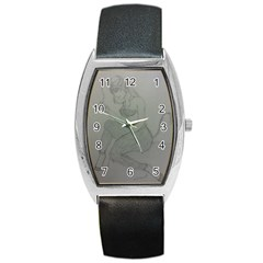 Smoke Break Satyr Tonneau Leather Watch