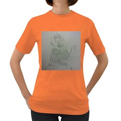 Smoke Break Satyr Women s T-shirt (Colored)