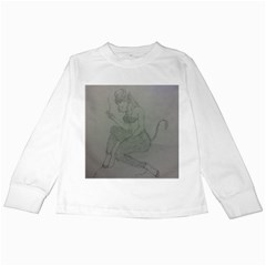 Smoke Break Satyr Kids Long Sleeve T-Shirt