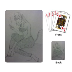 Smoke Break Satyr Playing Cards Single Design