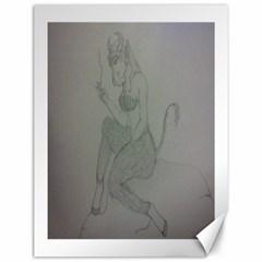Smoke Break Satyr Canvas 12  x 16  (Unframed)