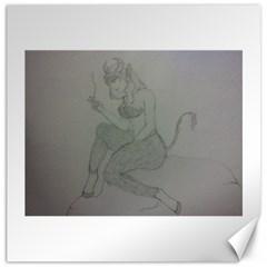 Smoke Break Satyr Canvas 16  x 16  (Unframed)