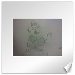 Smoke Break Satyr Canvas 20  x 20  (Unframed)