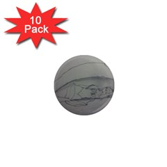 Restful 1  Mini Button Magnet (10 Pack)
