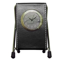 Restful Stationery Holder Clock