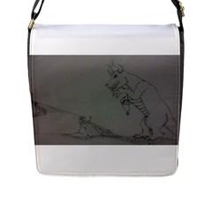 Offering Flap Closure Messenger Bag (Large)