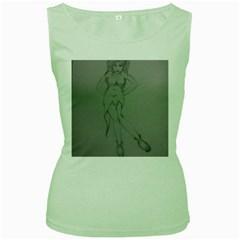 Mischevious Women s Tank Top (green)