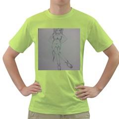 Mischevious Men s T-shirt (Green)