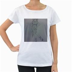 Mischevious Women s Maternity T-shirt (White)