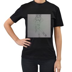 Mischevious Women s T-shirt (Black)