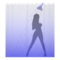 Shower Lady Shower Curtain 66  x 72  (Large)