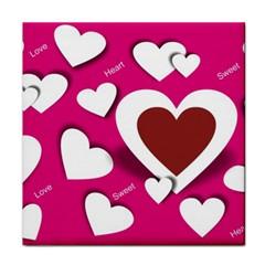 Valentine Hearts  Ceramic Tile