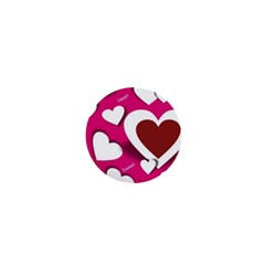 Valentine Hearts  1  Mini Button Magnet