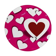 Valentine Hearts  Round Ornament